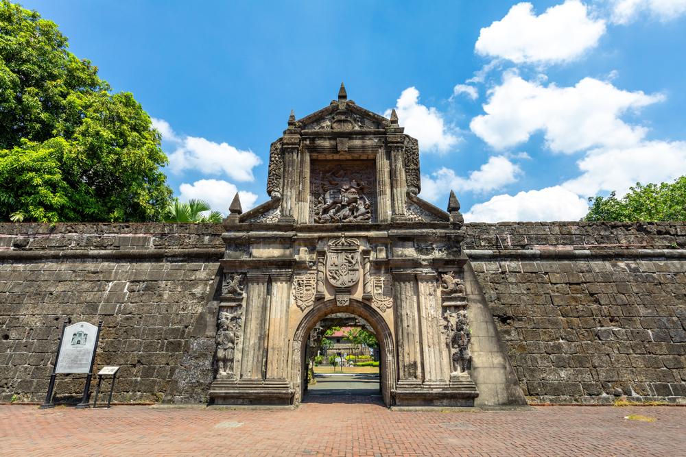 Facade of Fort Santiago in Intramuros