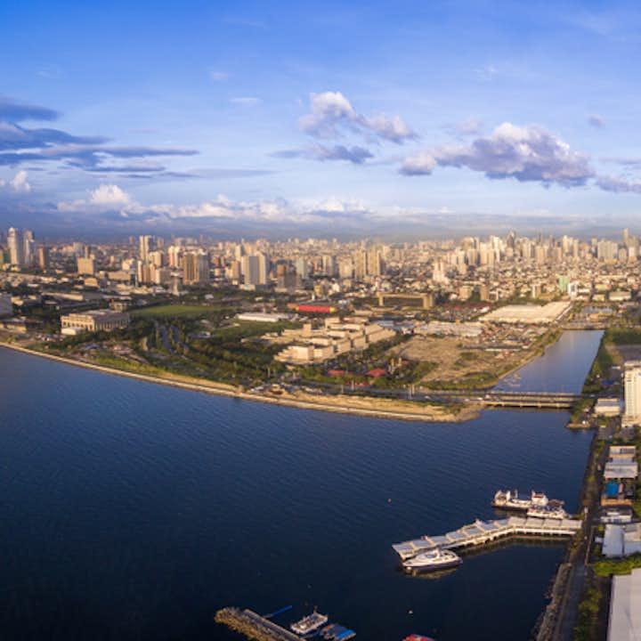 Aerial view of Manila