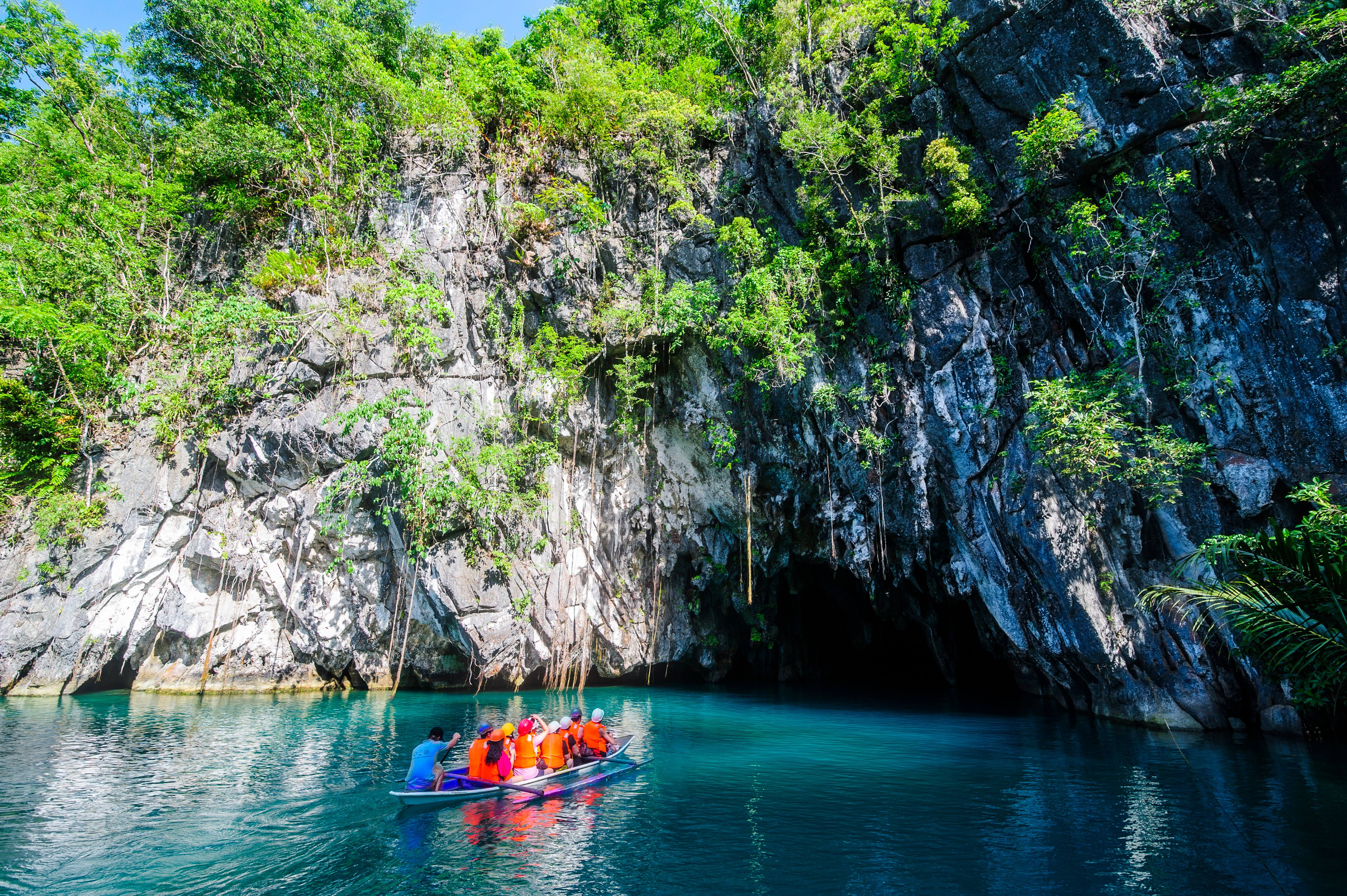 Entrance to the Underground River in Puerto Princesa Palawan