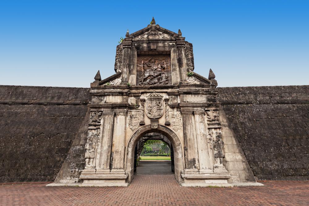Rock formation of Fort Santiago in Intramuros