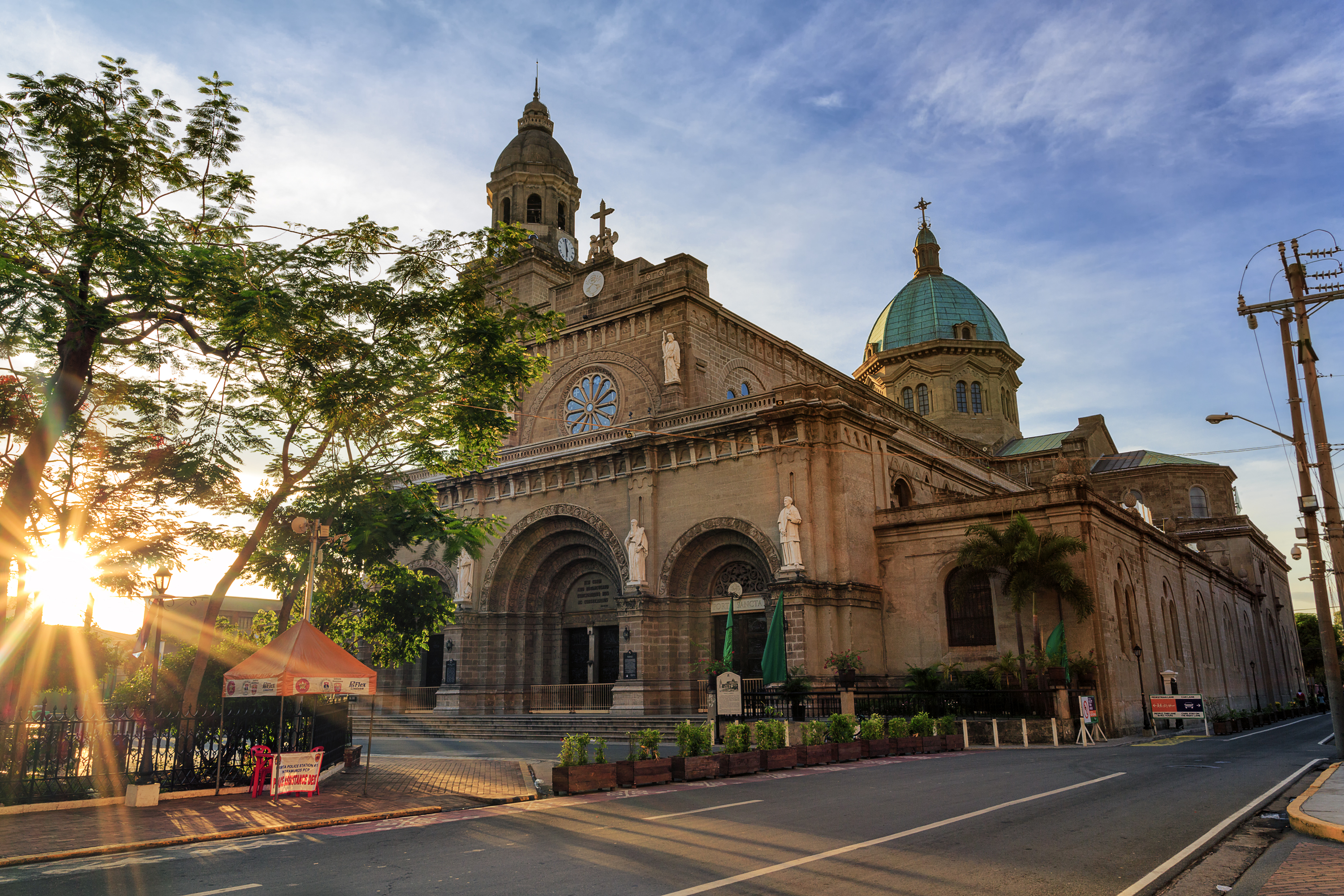 Sunrise at Cathedral in Intramuros Manila