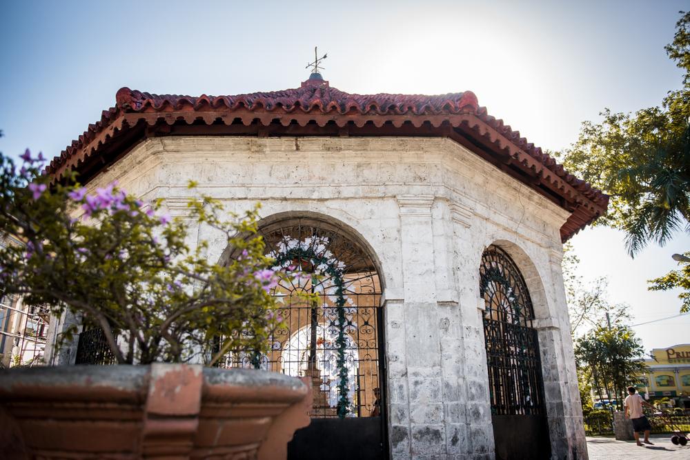 Facade of Magellan's Cross in Cebu
