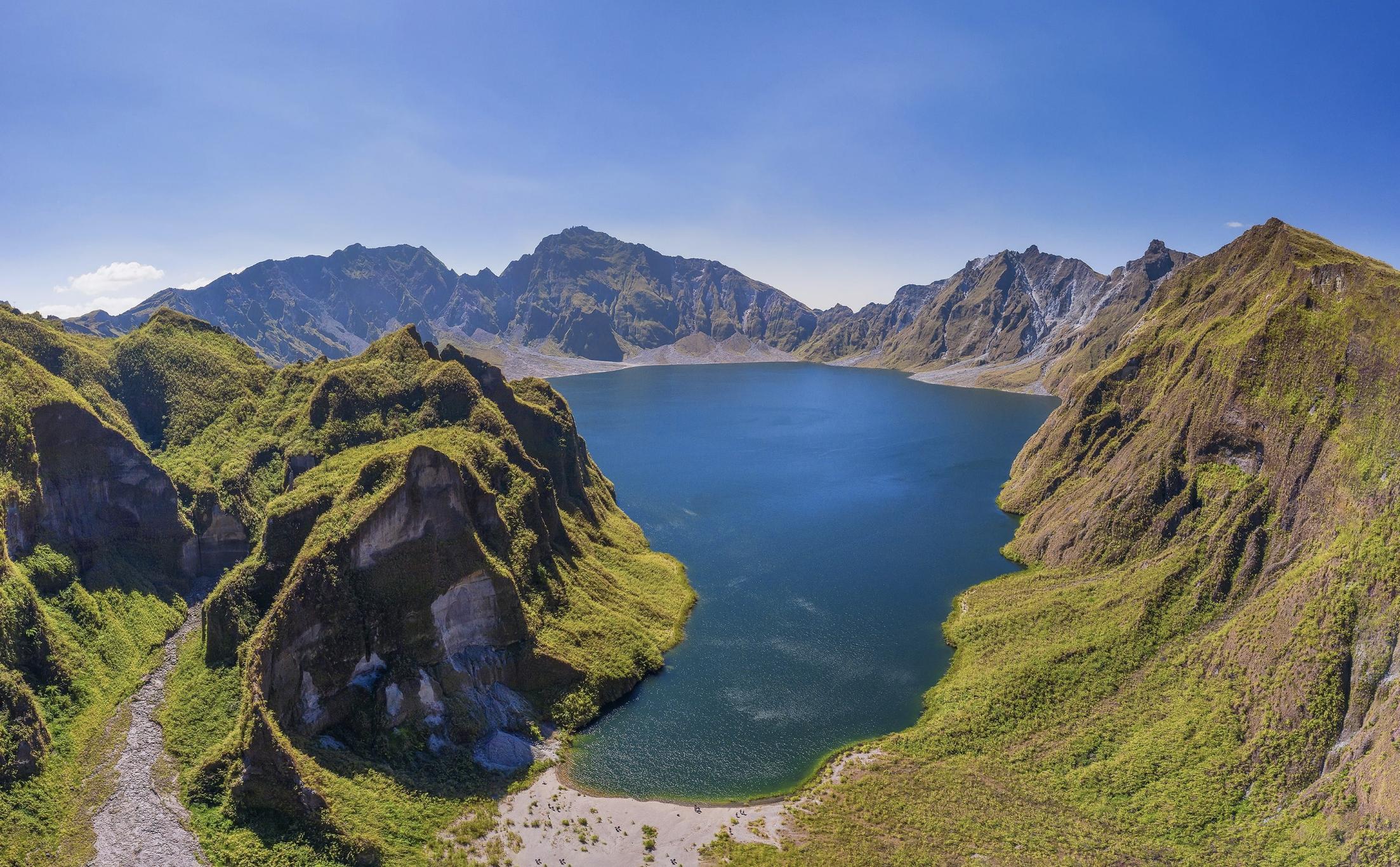 Beautiful crater lake of Mt. Pinatubo