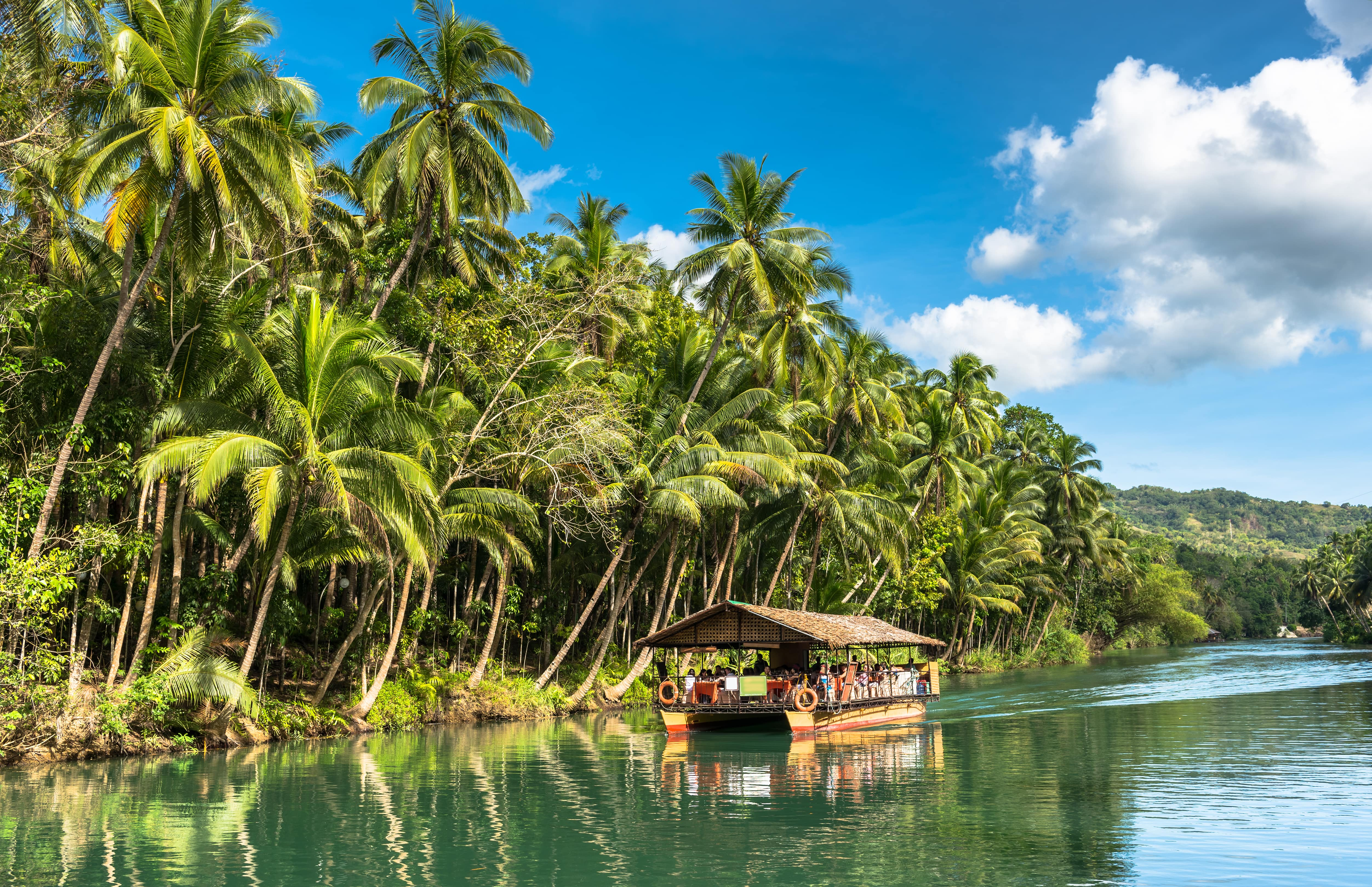 Peaceful environment during the Loboc River Cruise in Bohol