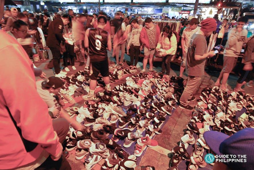 People going around Baguio's night market