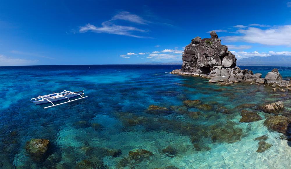 A boat in Apo Island in Dumaguete