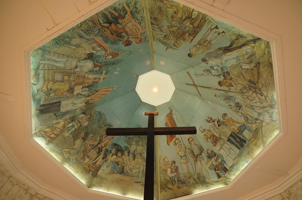Ceiling of Magellan's Cross in Cebu