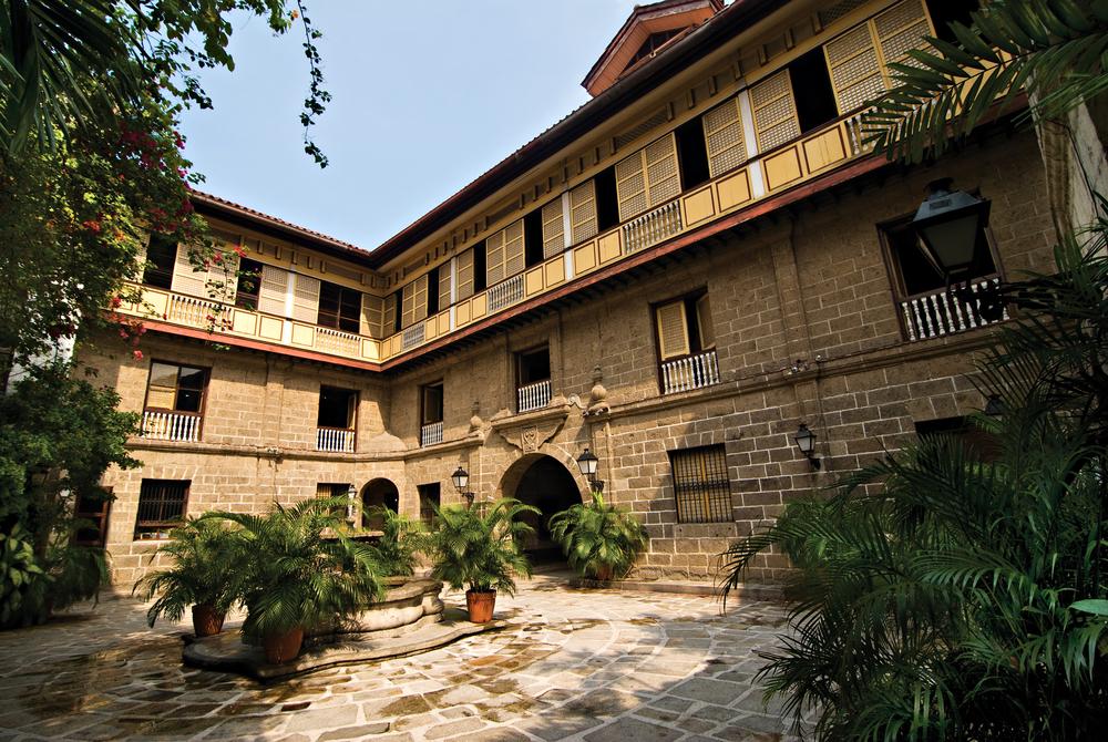 Beautiful structure of Casa Manila inside Intramuros