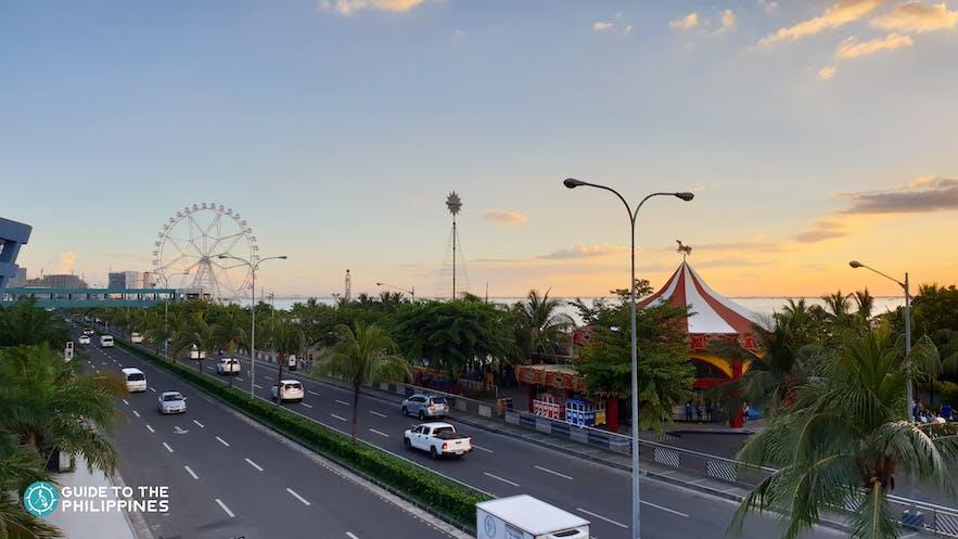 Roads along MOA area in Manila
