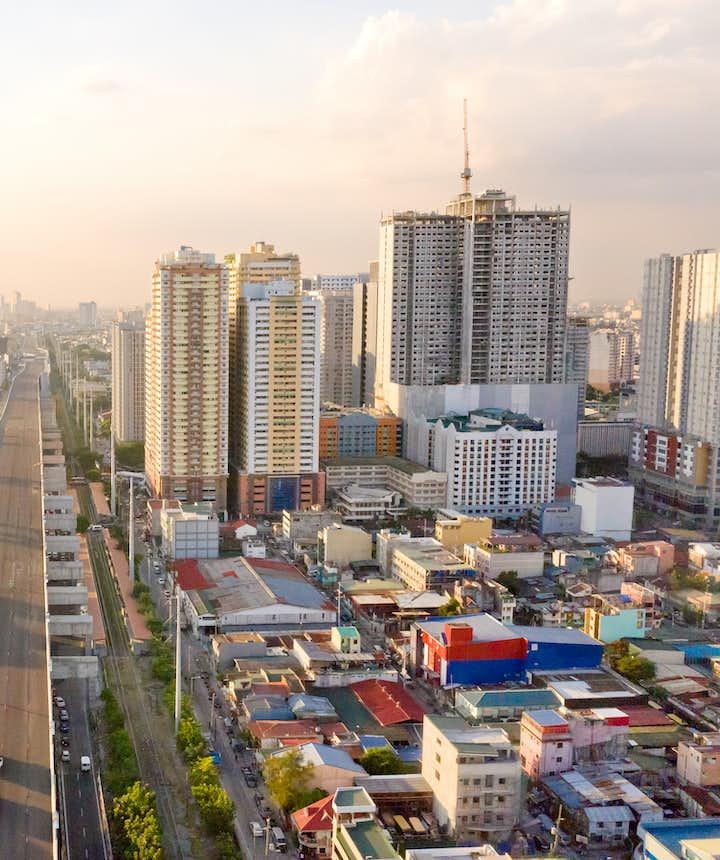 Sunset view of Manila
