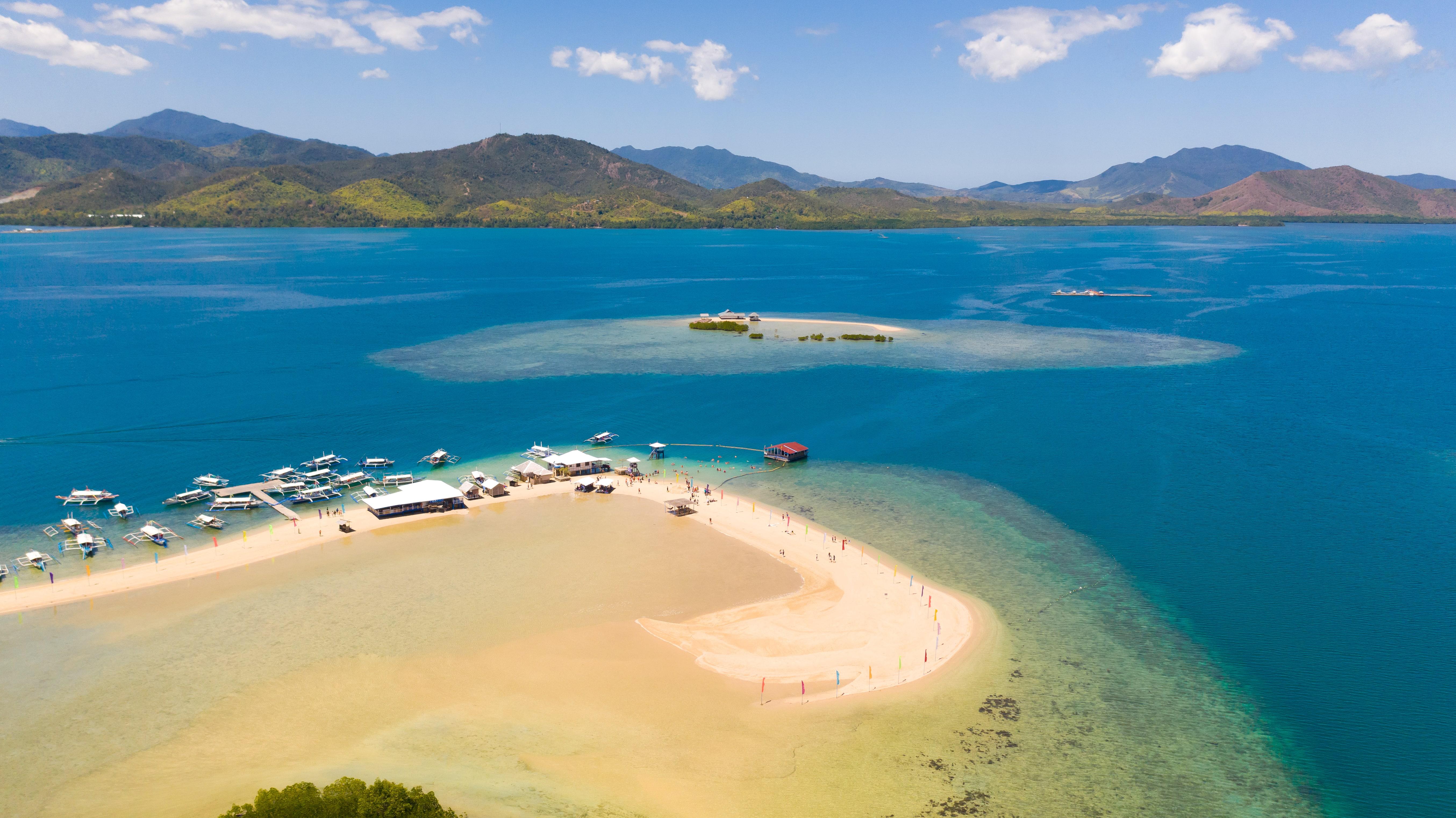 Aerial view of Luli Island in Palawan