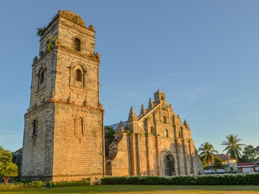 Beautiful architecture of Paoay Church in Ilocos Norte