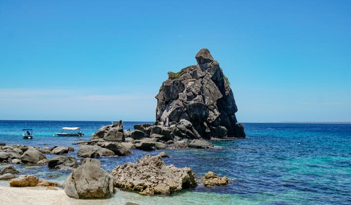 Rock formations in Apo Island, Dumaguete