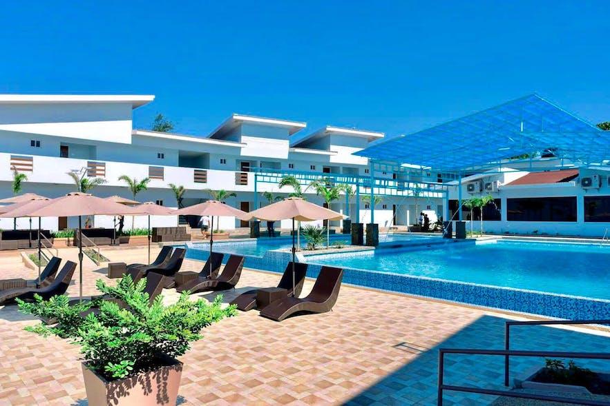 Pool area in Funtasea Beach Resort