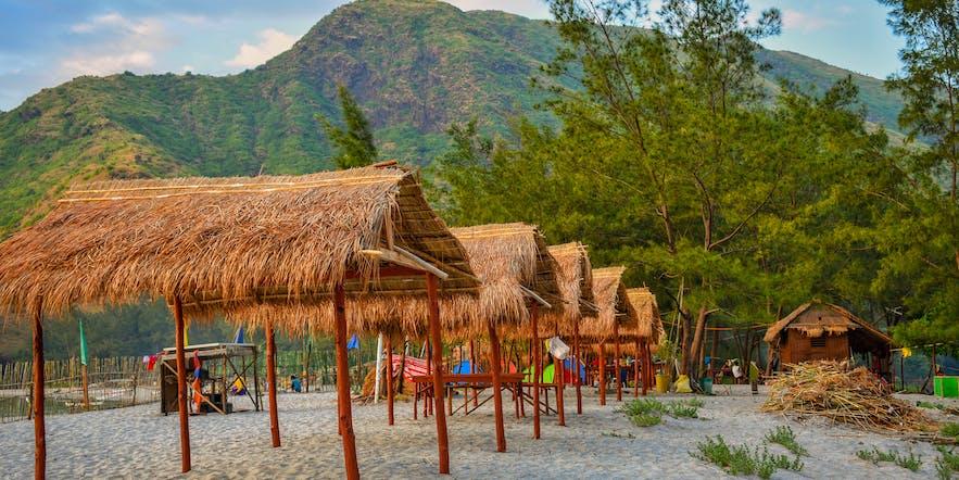 Huts in Anawangin Cove Zambales