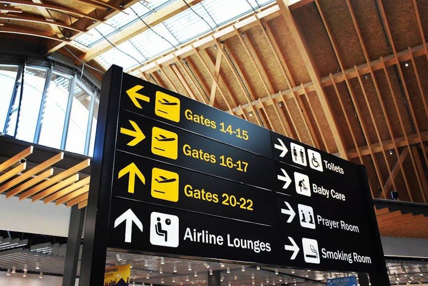 Signages inside Mactan Cebu International Airport