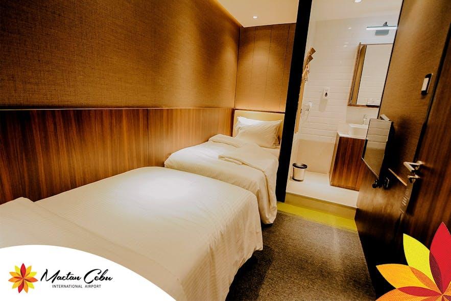 A bed inside a room in Aerotel Cebu