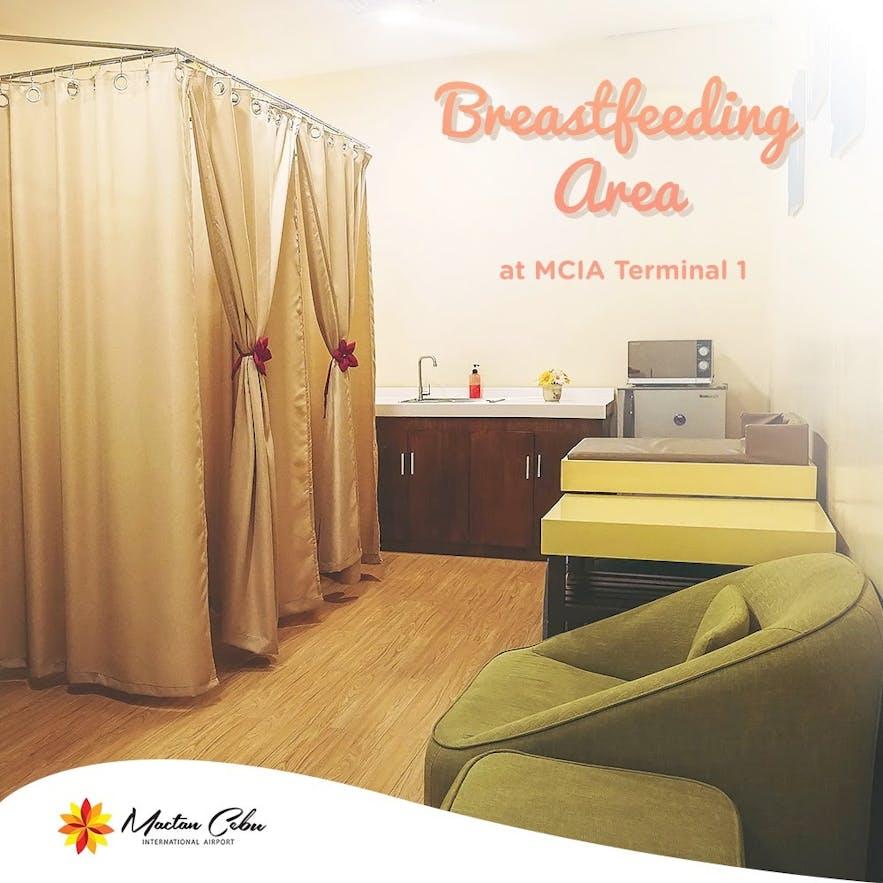 Breastfeeding area in Mactan Cebu International Airport