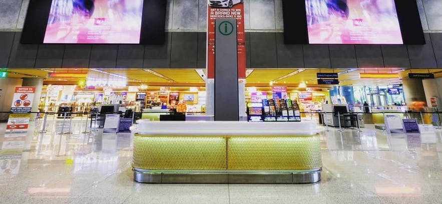 Arrival area in Mactan Cebu International Airport