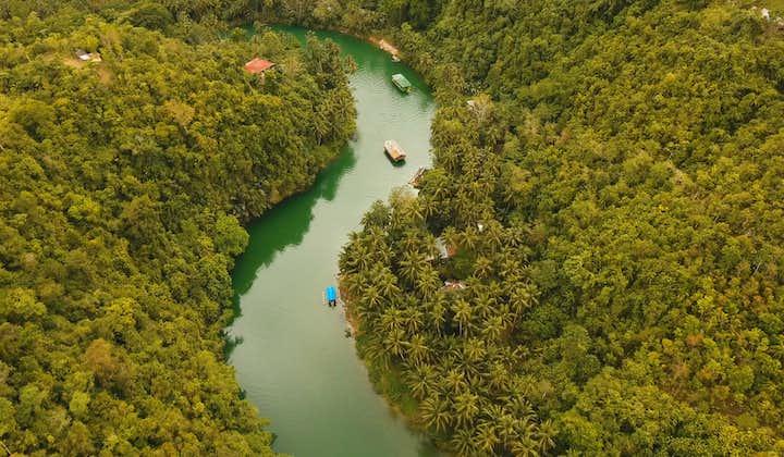Aerial view of Loboc River