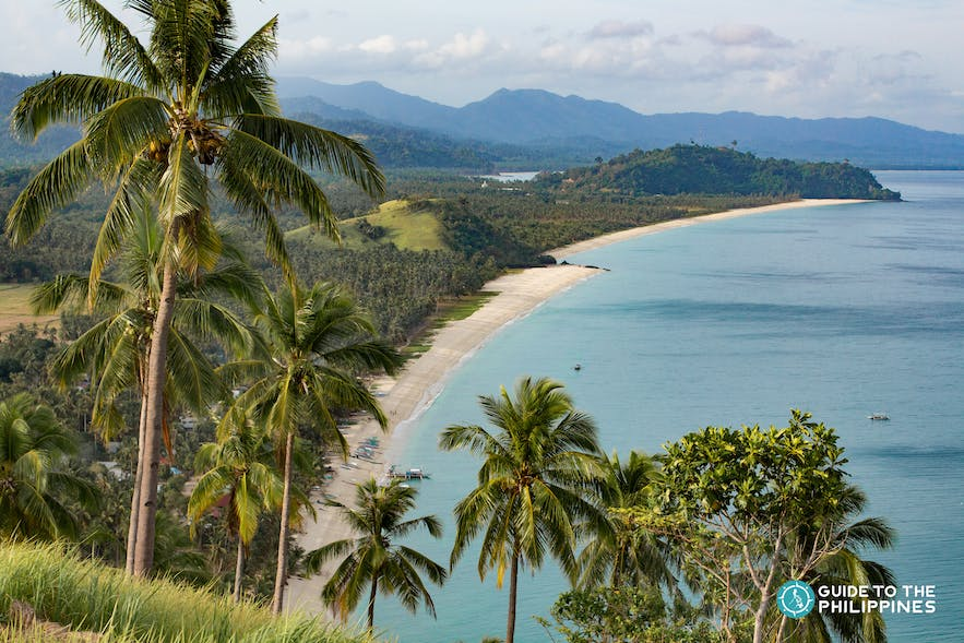 View of Long Beach from a hill in San Vicente Palawan