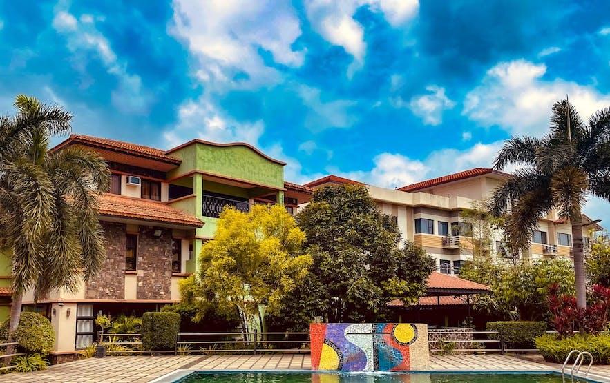 Facade of Auravel Hotel in Laguna