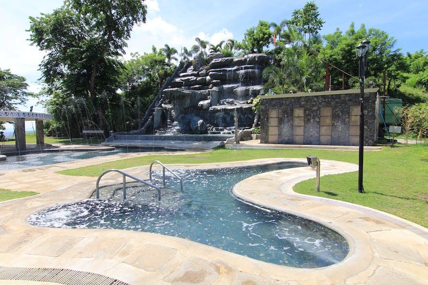 Pool area in Sol Y Viento Mountain Spring Resort