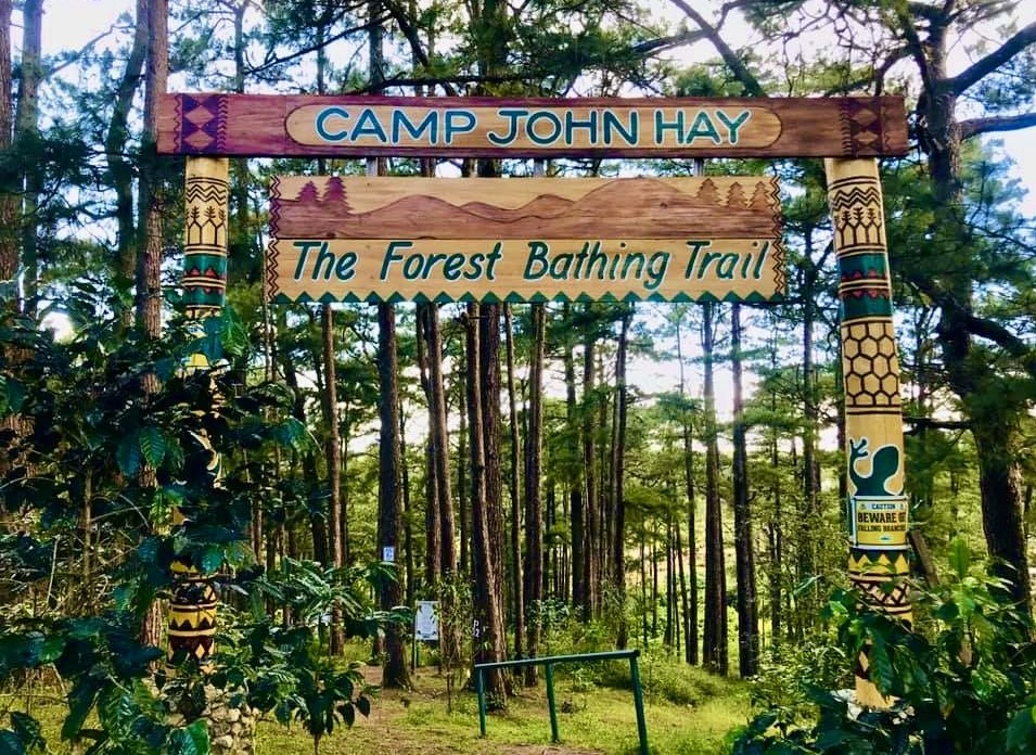 Entrance of Camp john hay for Forest bathing Guided Tour