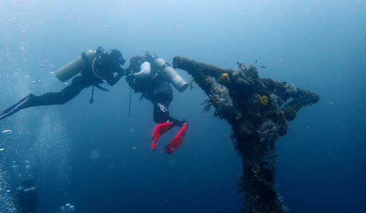 Two divers during an advanced open water session