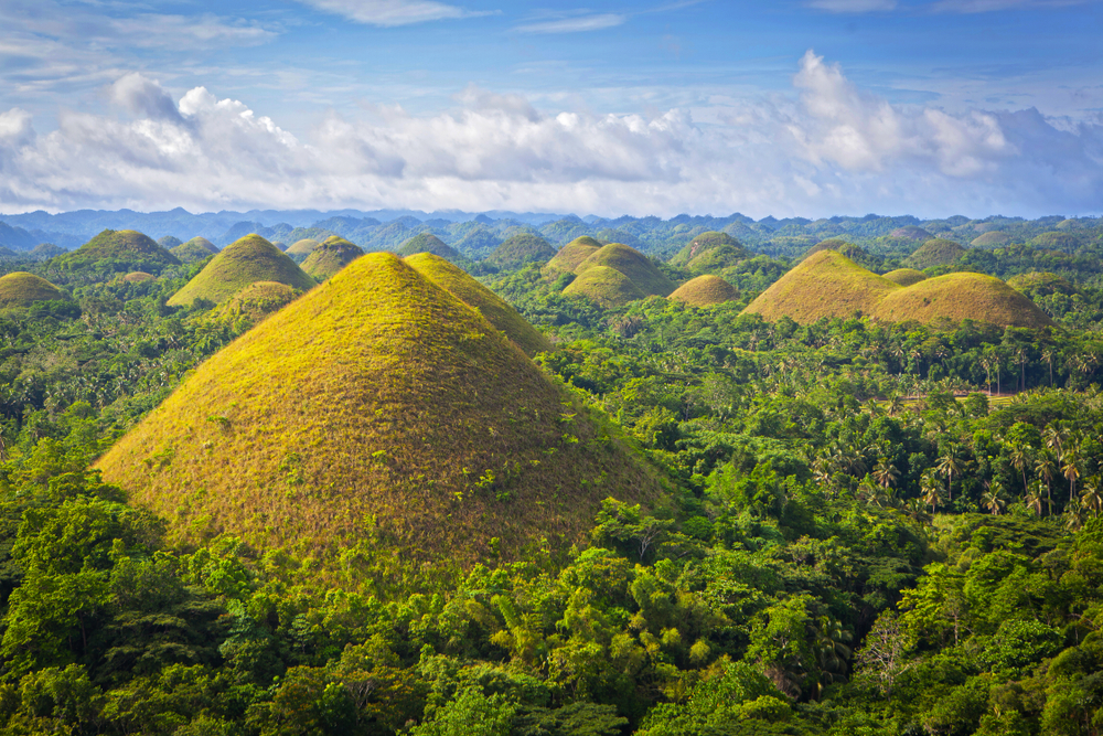 Famous Chocolate Hills in Bohol