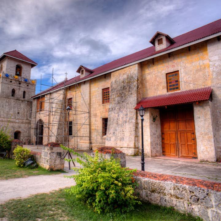 Facade of the Baclayon Church in Bohol