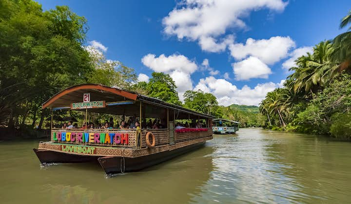 Boat during a Loboc River Cruise in Bohol