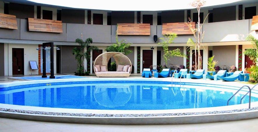 Pool area in The Oriental Bataan