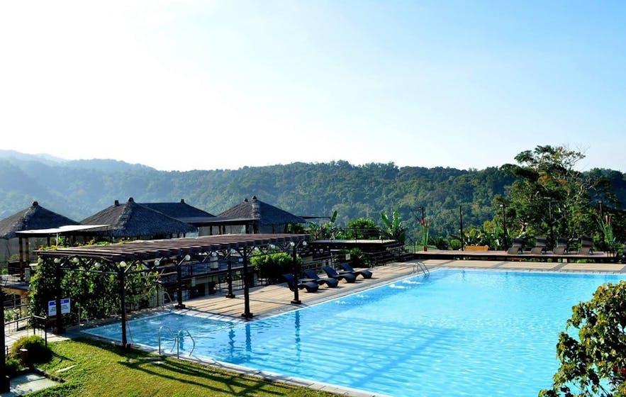 Beautiful pool area of Sinagtala Farm and Resort