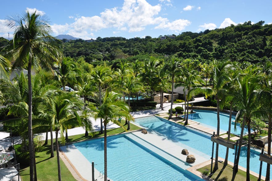 Pool area of Anvaya Cove Beach Club