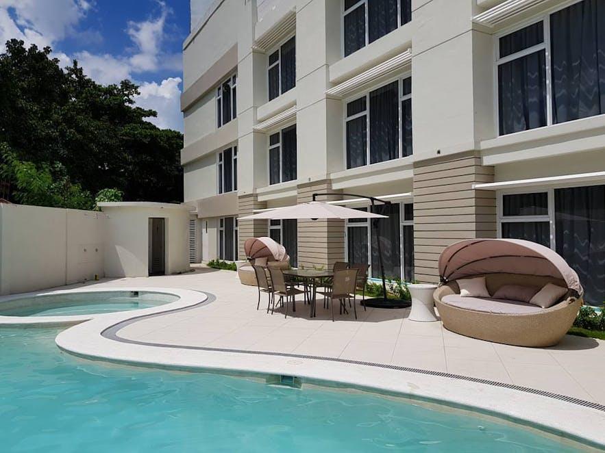Poolside area of LeBlanc Hotel and Resort