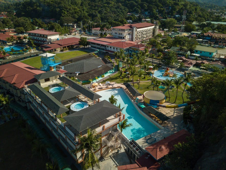 Aerial view of White Rock Beach Hotel