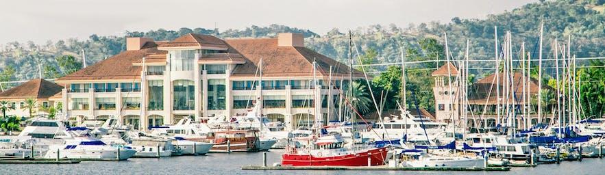 Yachts in Subic Bay Yacht Club