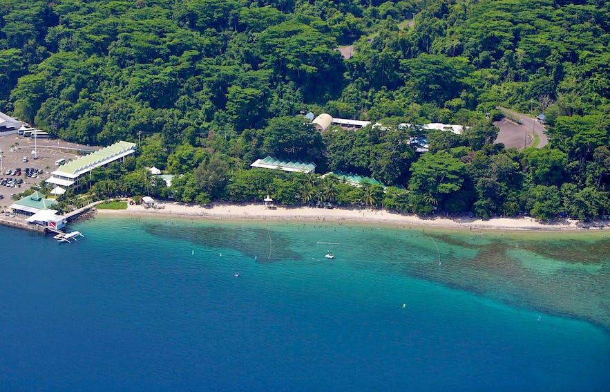 Aerial view of Camayan Beach Resort Hotel