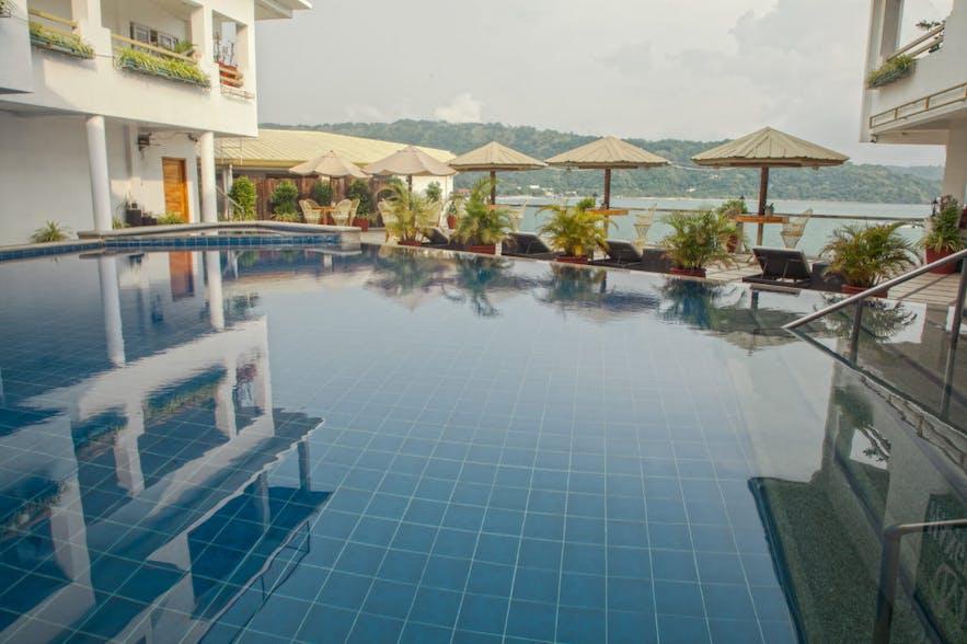 Pool area at Mangrove Resort Hotel