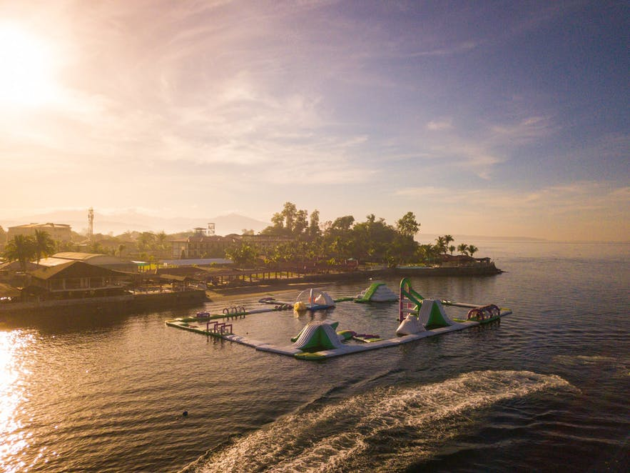 Sunset over Whiterock Resort in Subic