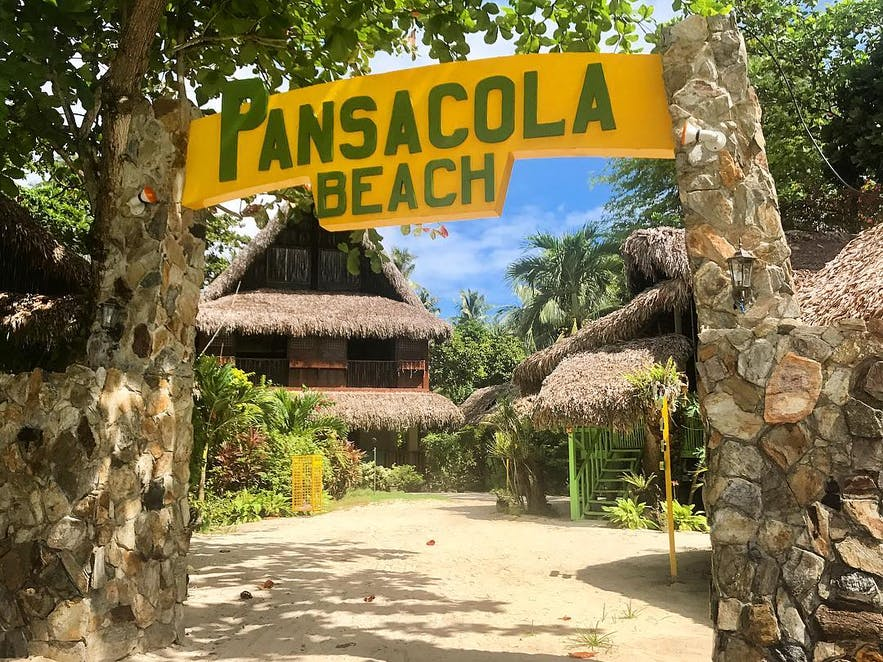 Entrance arc in Pansacola Beach Resort