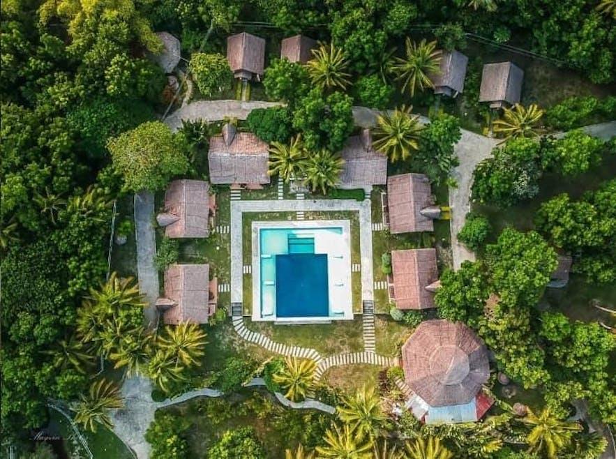 Aerial view of Catanauan Cove Resort
