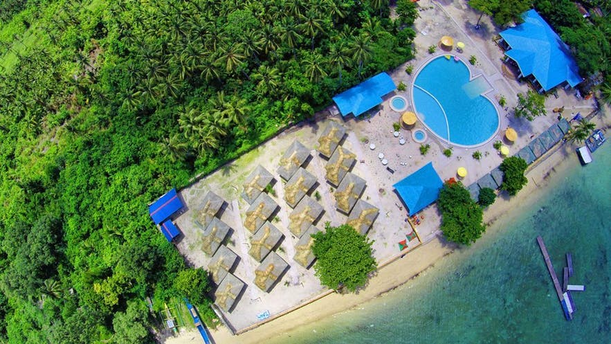 Aerial view of Aquazul resort in Quezon Province