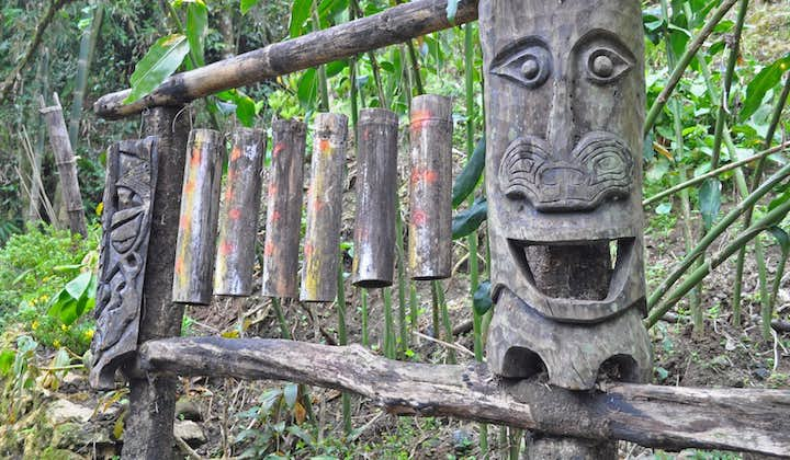 Carving at Ifugao woodcarver's village