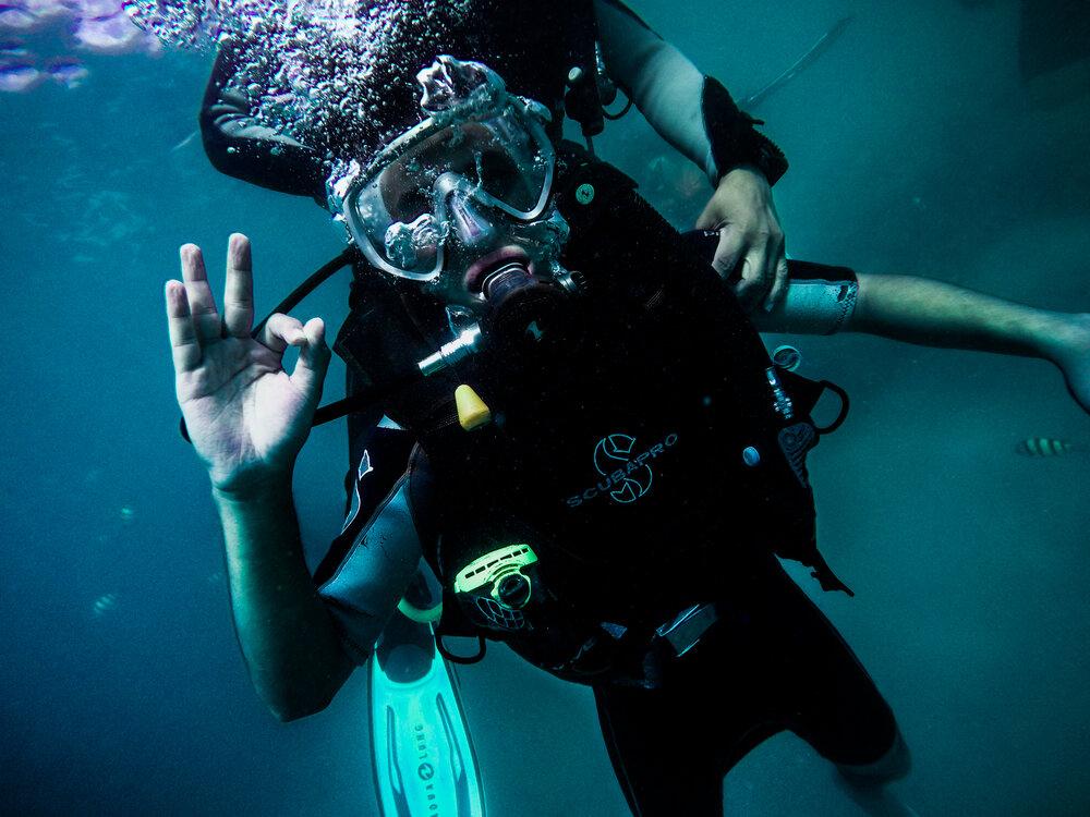 Dive session in Mactan Cebu