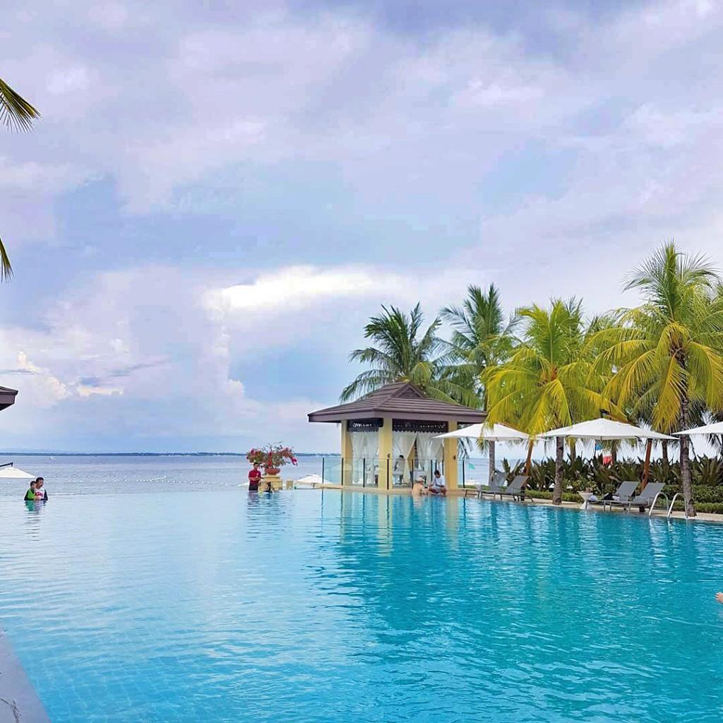 Main pool area of Crimson Mactan Resort