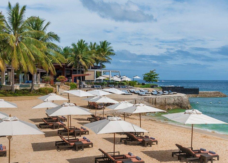 Beachfront area of Crimson Mactan Resort