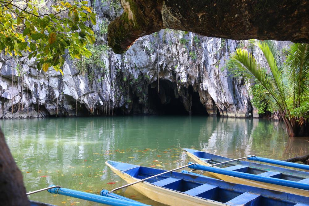 Boats in Puerto Princesa Palawan Underground River