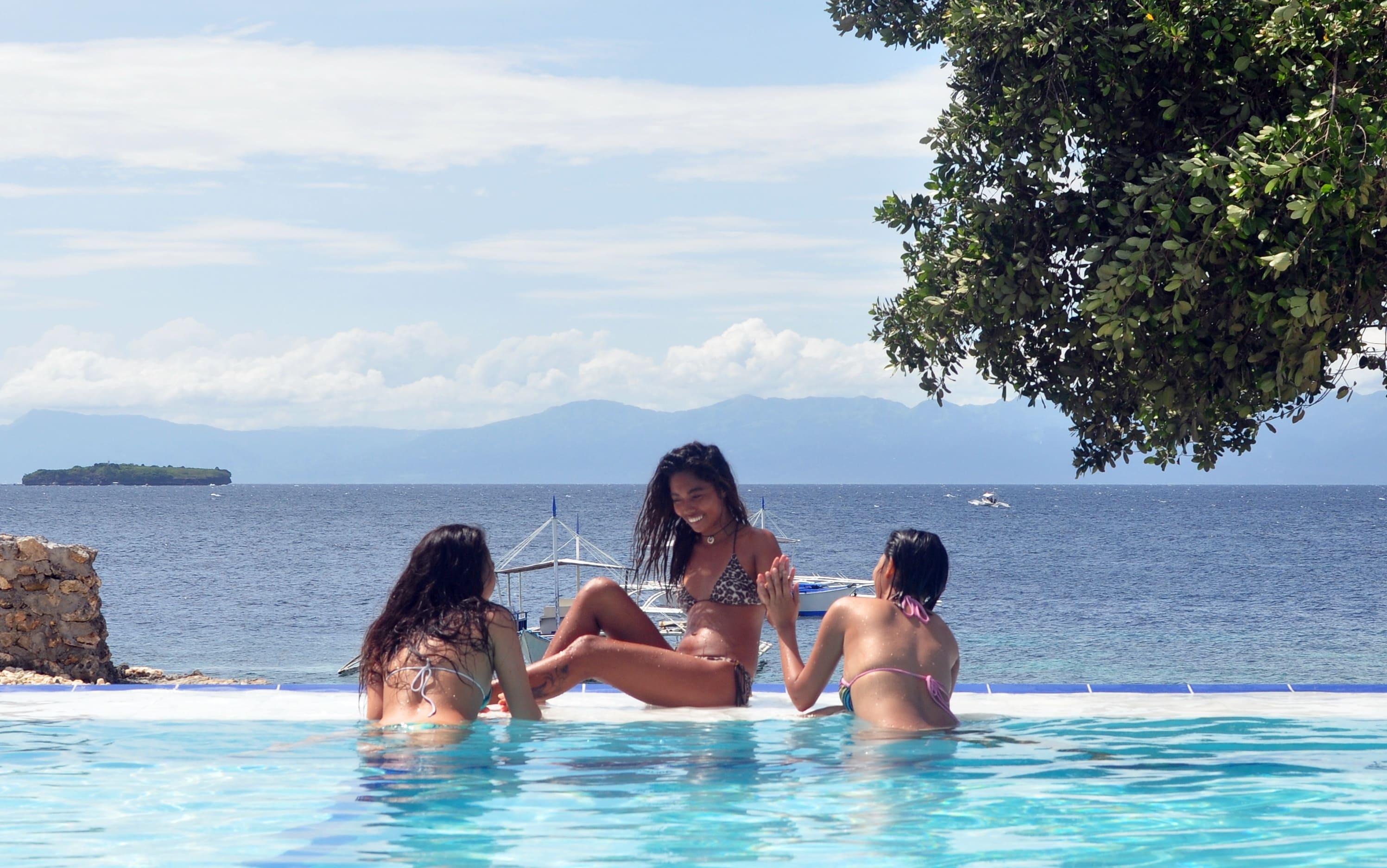 Infinity pool at Cebu Seaview Dive Resort